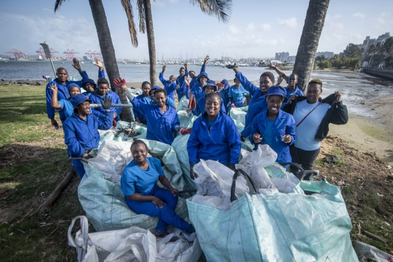 Safripol bulk bags are re-used by clean-up initiatives in KZN